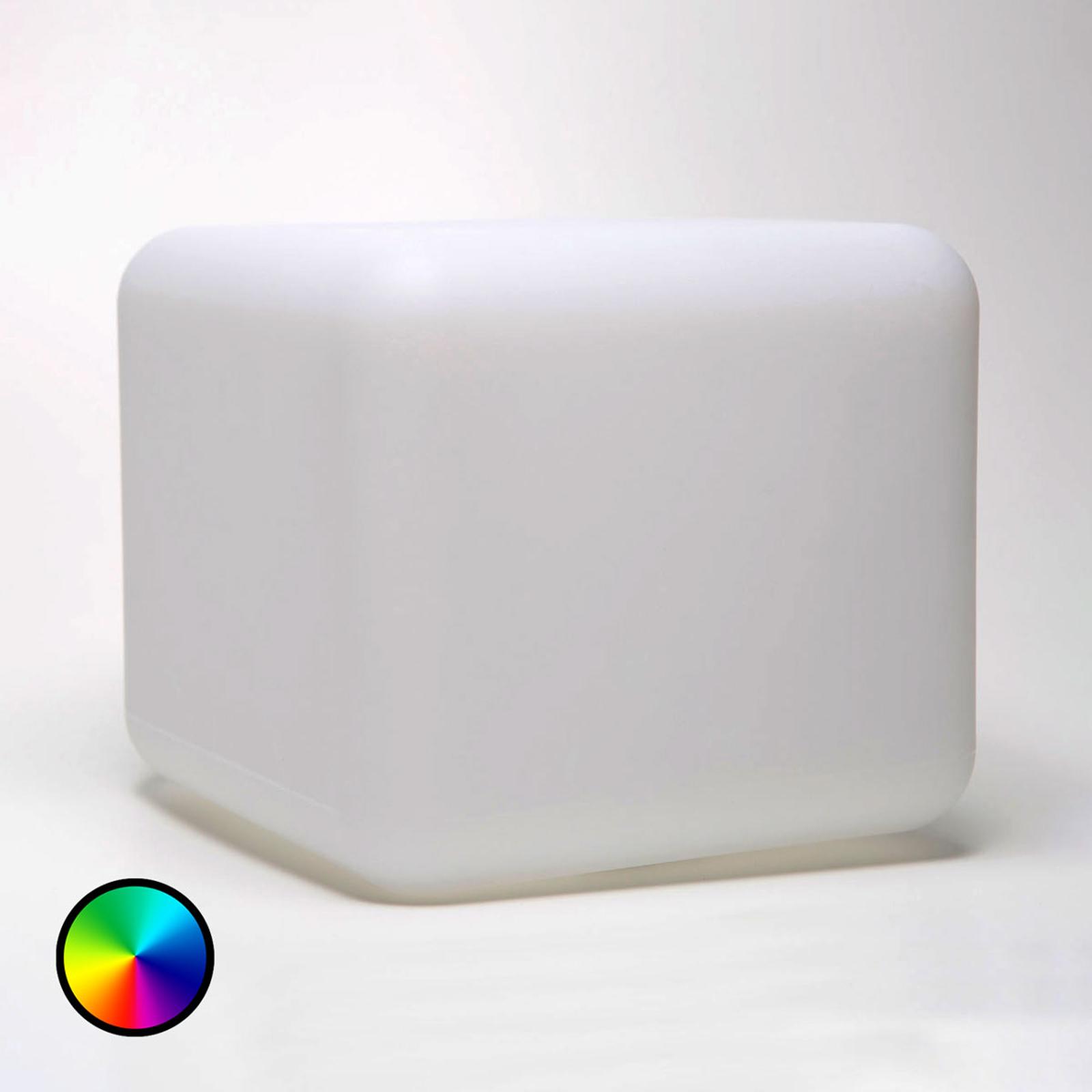 Deko-Tischleuchte Dice S, App-steuerbar RGBW 16 cm
