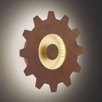 LED-Wandleuchte Leif mit Goldakzent