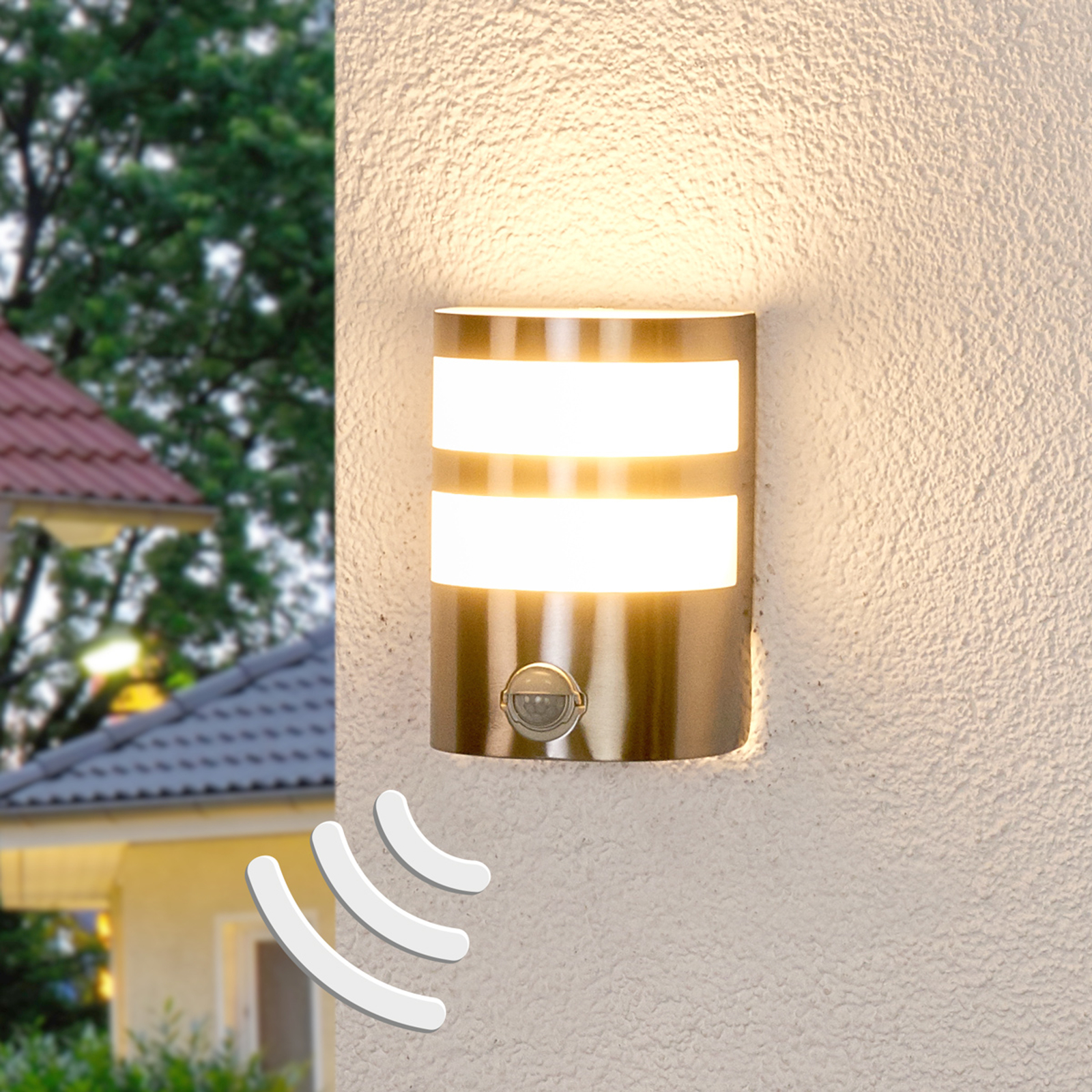 Lucja Led Outdoor Wall Lamp With Motion Sensor Lights Co Uk