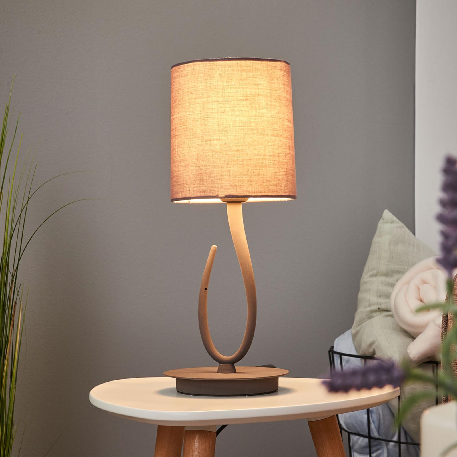 Lampe à poser Lua avec abat-jour en textile, 16 cm