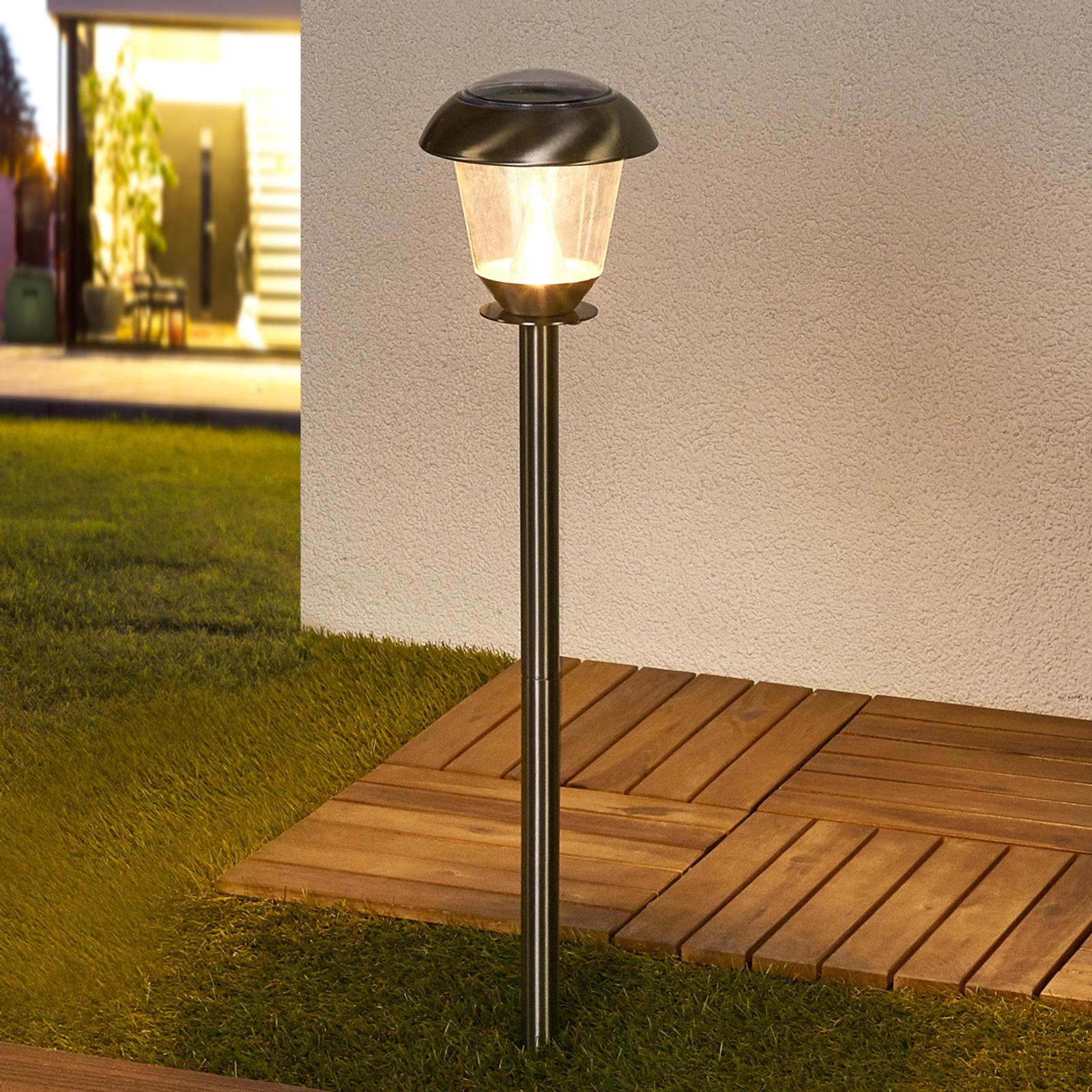 Lampada solare LED Nela per il giardino