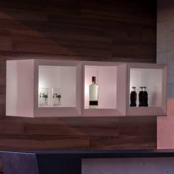 Newgarden Bricky LED regál krychle bílá RGBW