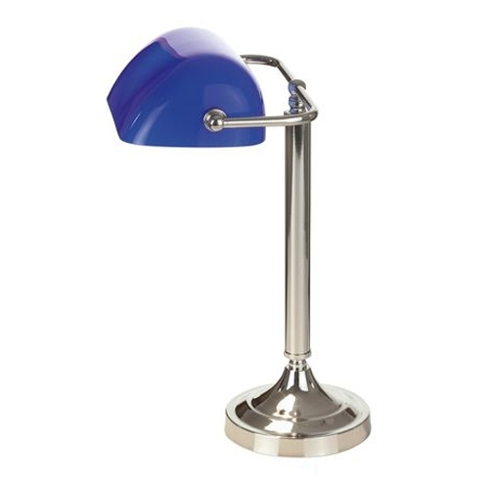 Typowa bankierska lampa stołowa TINEKE niebieska