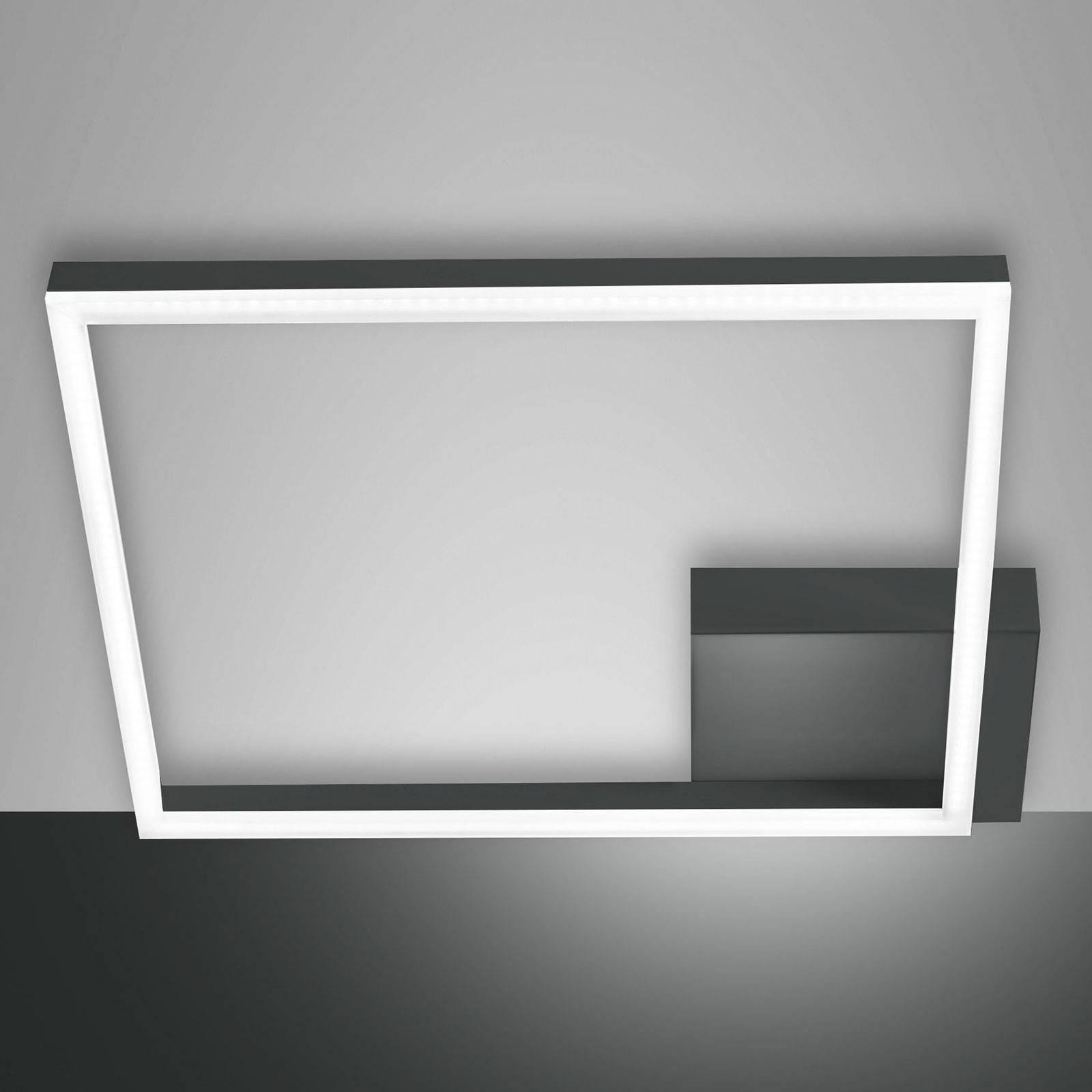 LED-Deckenleuchte Bard, 42x42 cm, anthrazit