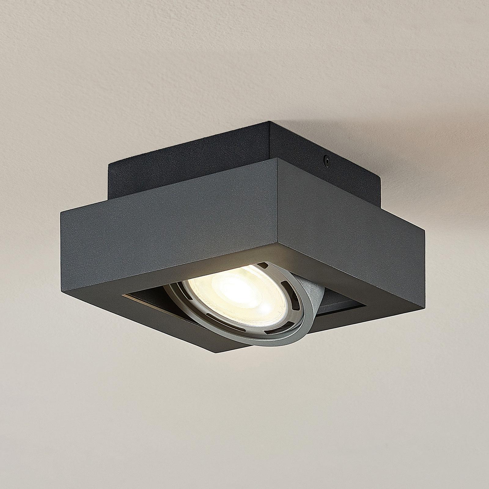 Spot sufitowy LED Ronka, GU10, 1-pkt., ciemnoszary