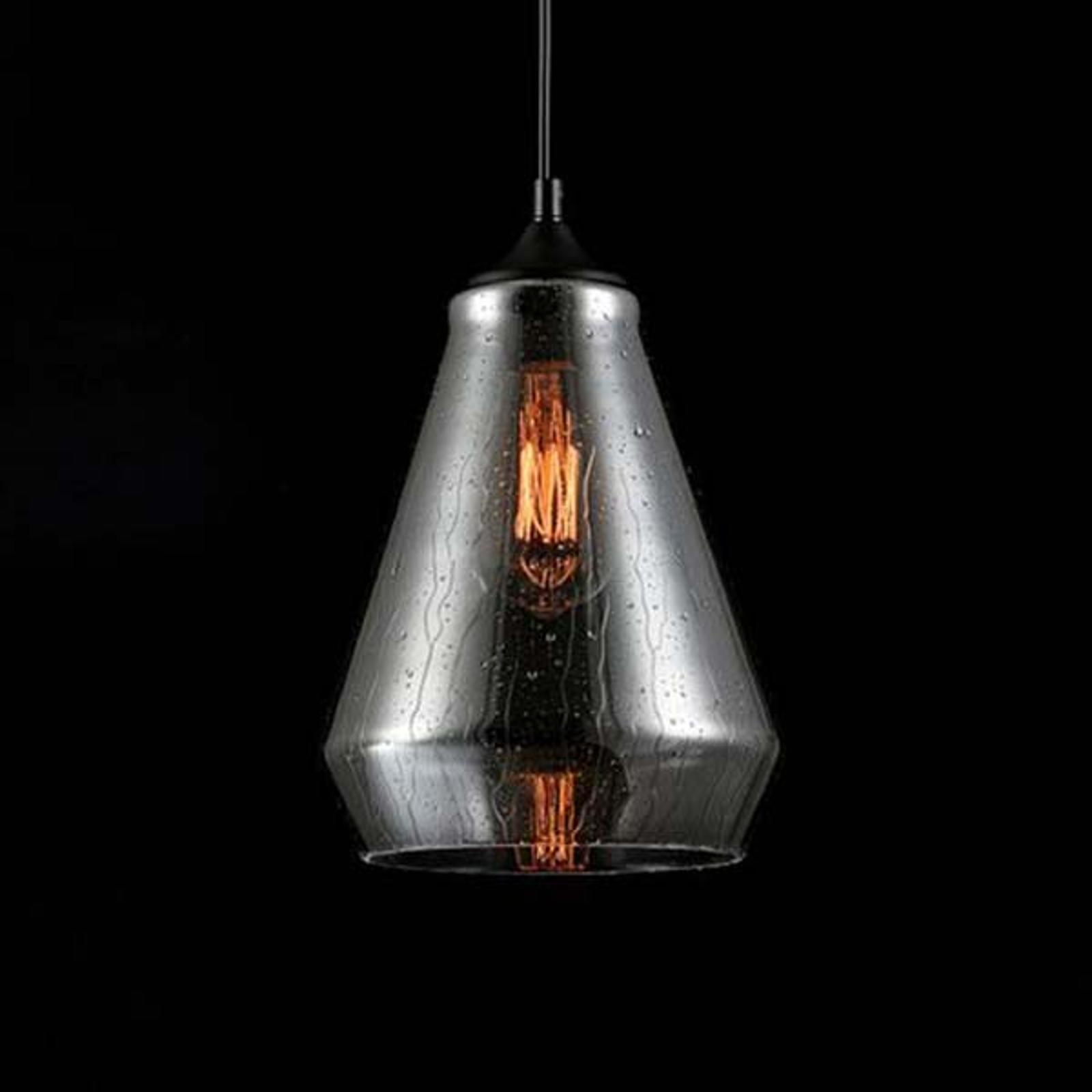 Glas-hanglamp bergen met regeneffect Ø 21cm