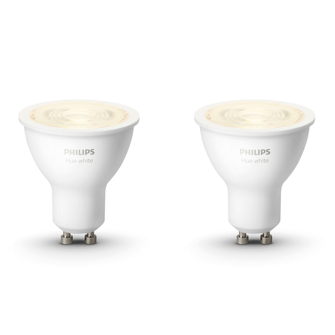 Philips Hue White 5,2 W GU10 LED-pære, sæt med 2