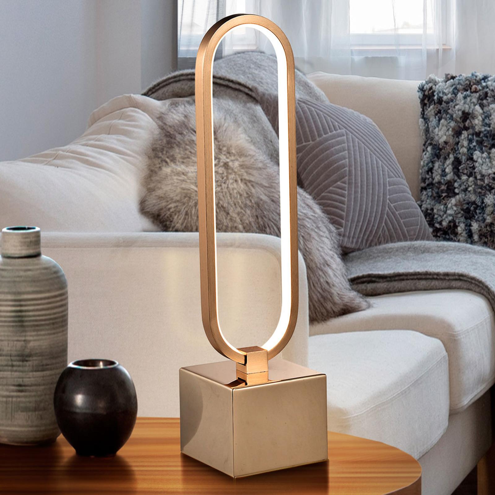 Lampe à poser LED Colette au beau design, dorée
