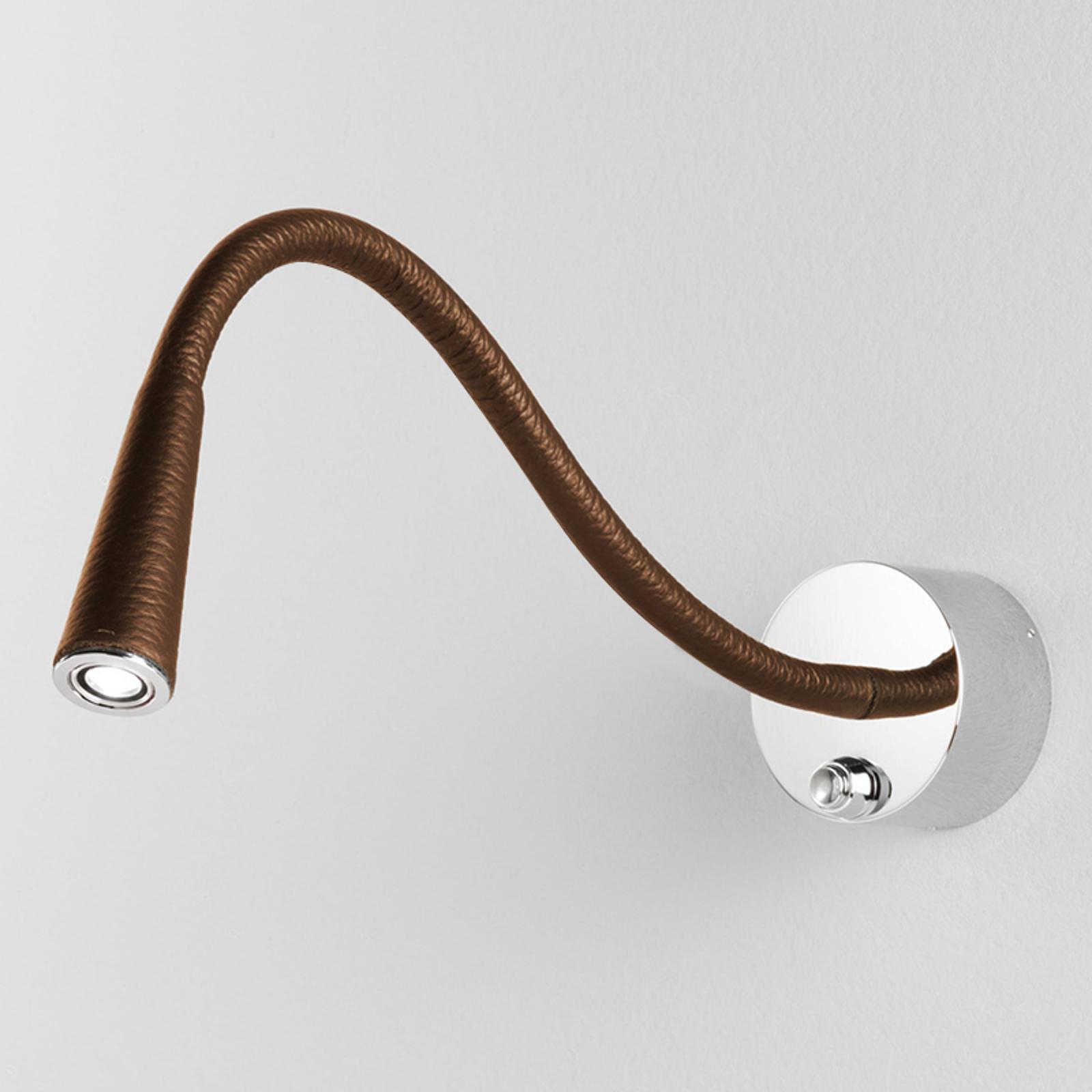 Vega T Flex LED-Wandleuchte, camel/chrom