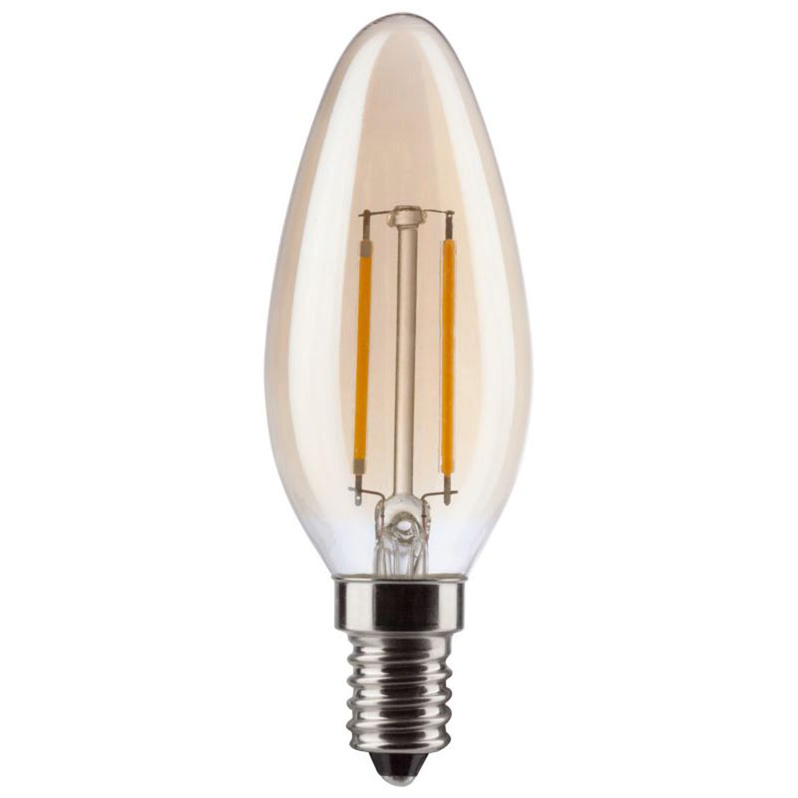 Żarówka świeczka retro LED E14 2,2 W złota 2000K