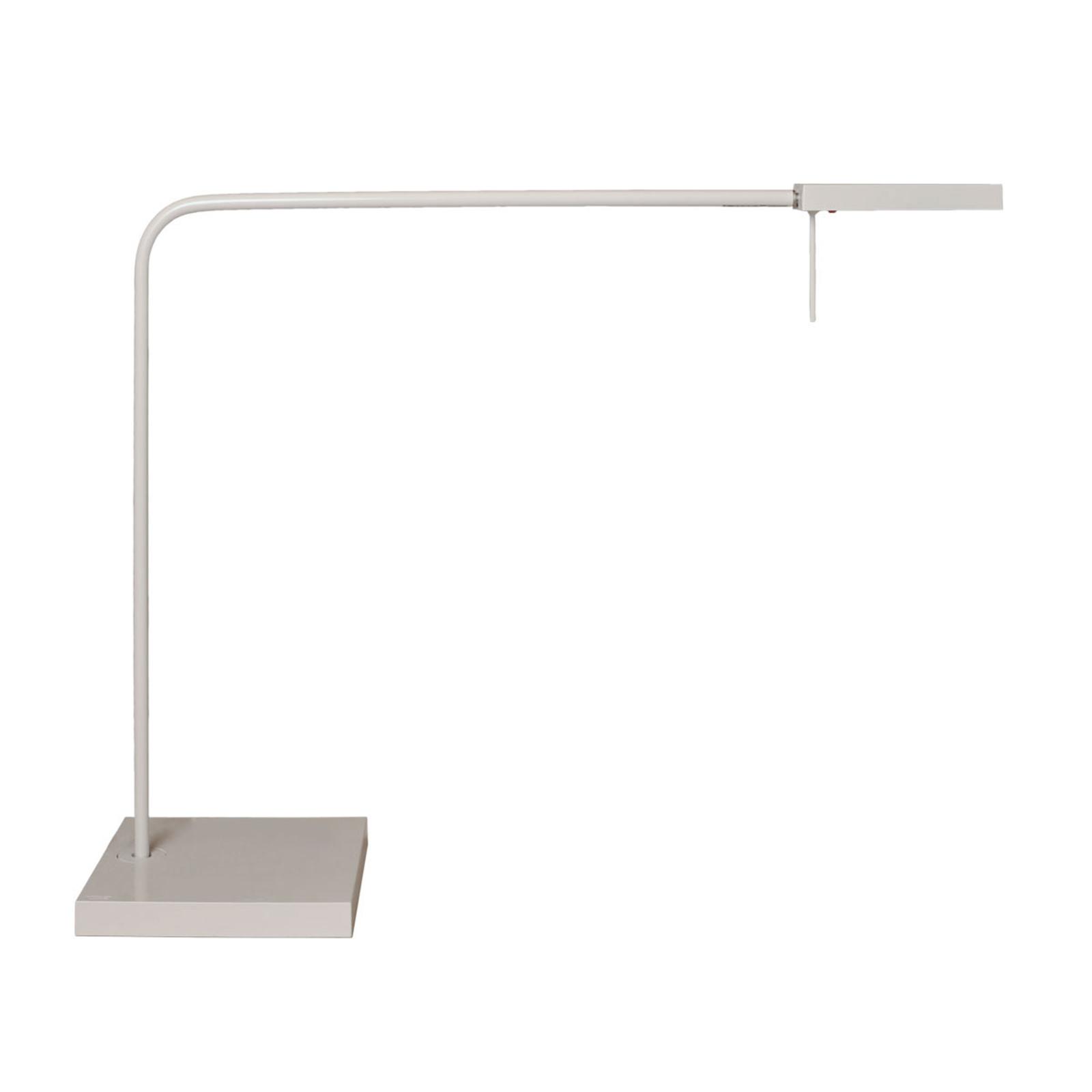 Lampe de bureau LED Ninety avec pied en blanc