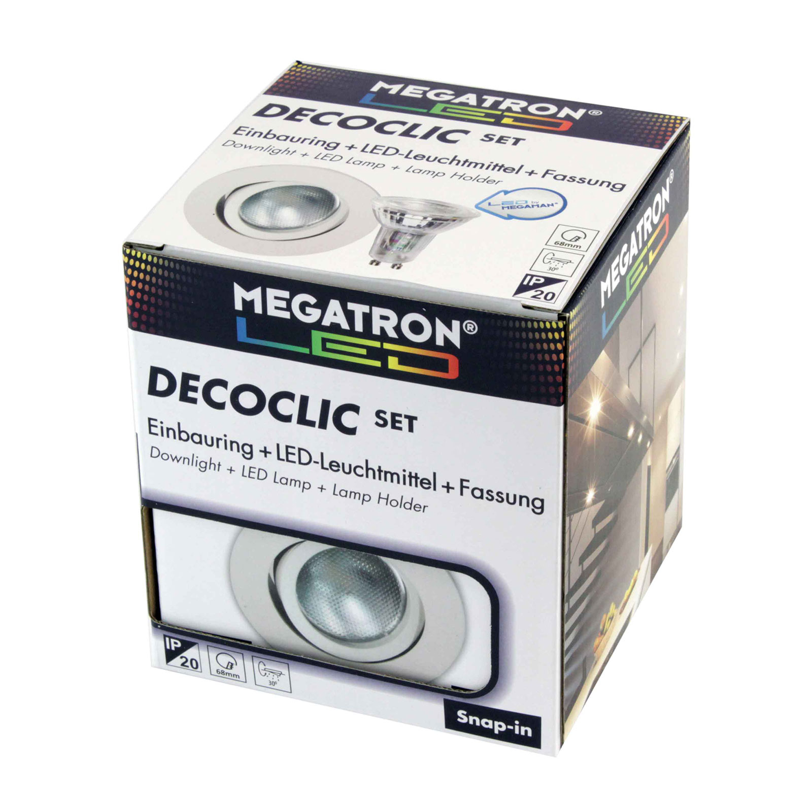 Spot encastré LED Decoclic lot GU10 4,5 W, blanc