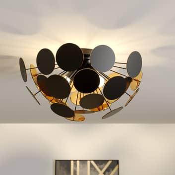 Schwarz-goldene Deckenlampe Kinan