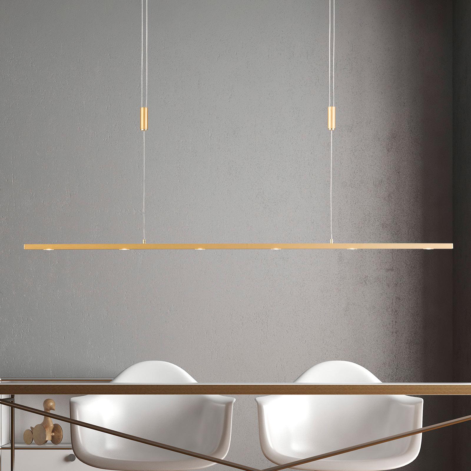 Lucande Tolu LED hanglamp, messing, 119 cm