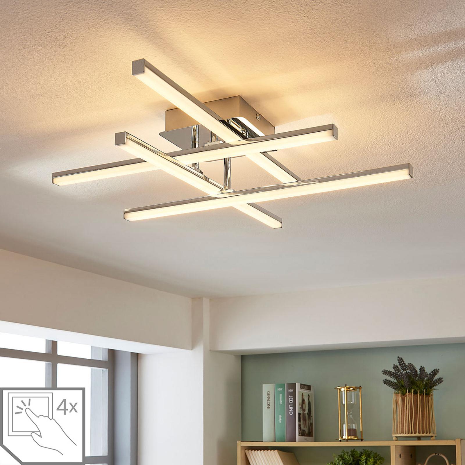 Justerbar LED-taklampa Korona, dimbar