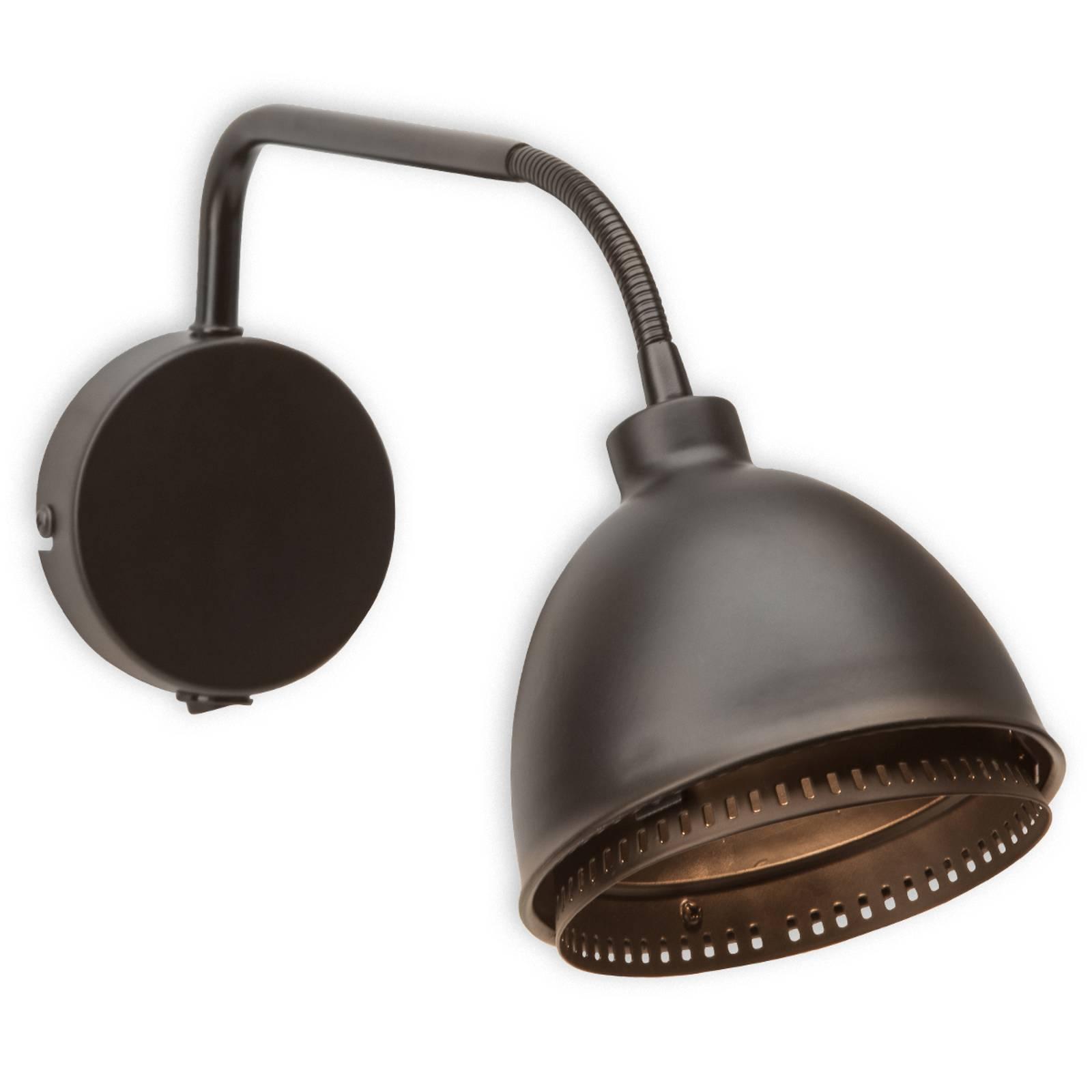 Skirt - zwarte wandlamp in industrieel design