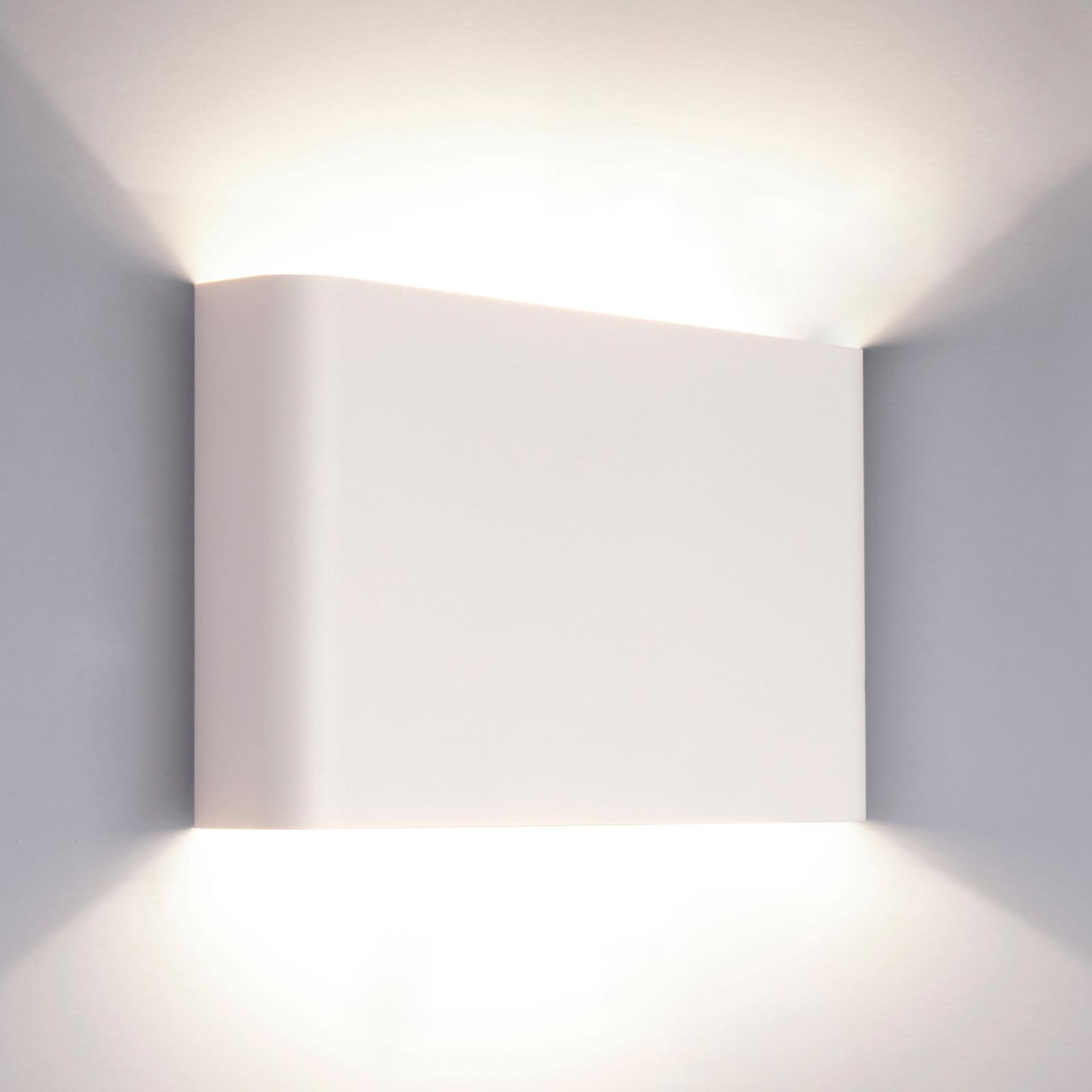 Lampa ścienna Haga z metalu, up & down, biała