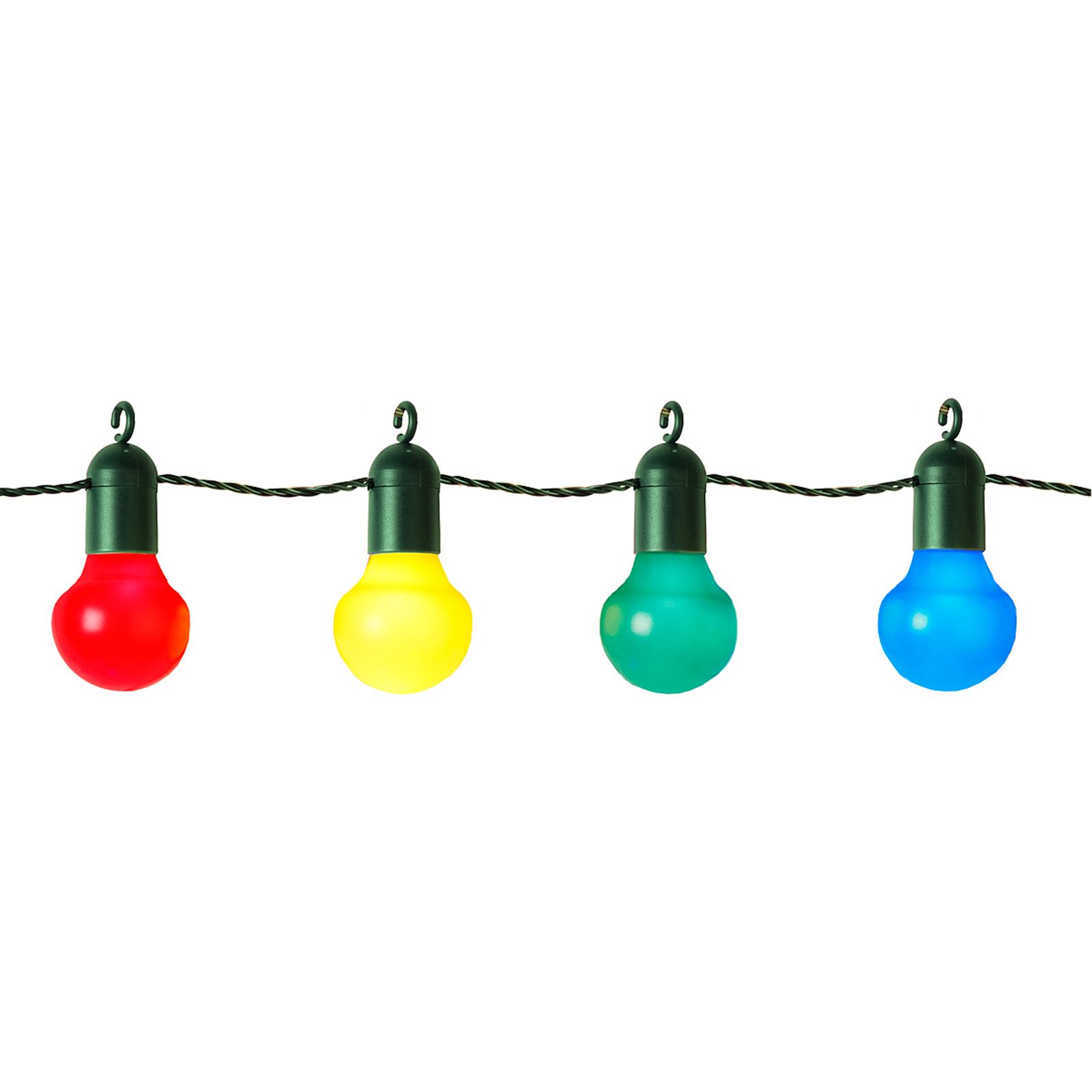 Party LED světelný řetěz Elin, barevný, 20 žárovek