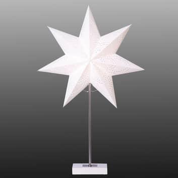 Hvid dekorationslampe Blomma, kombinationspakke