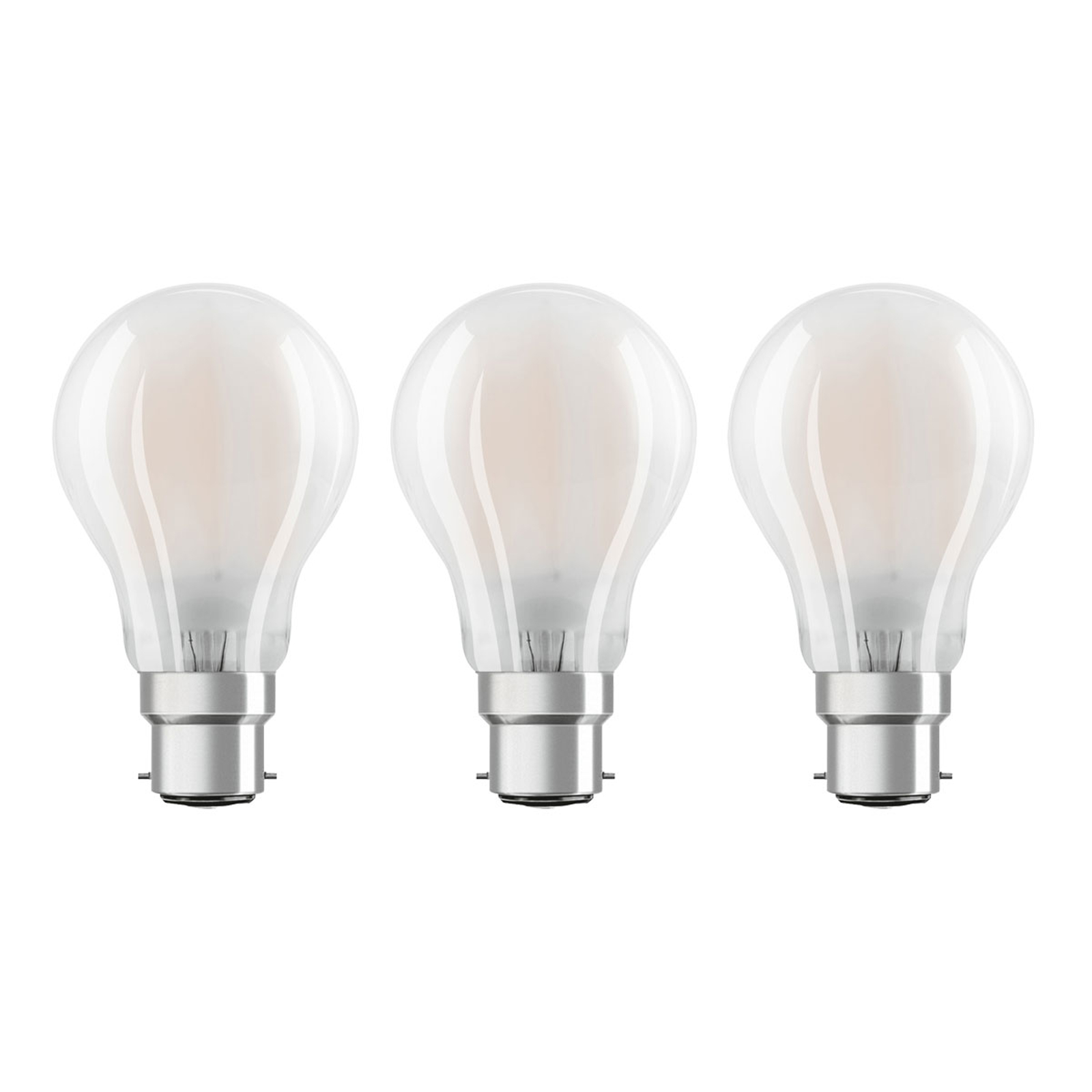 OSRAM lampadina LED B22d Classic 827 7W set 3x