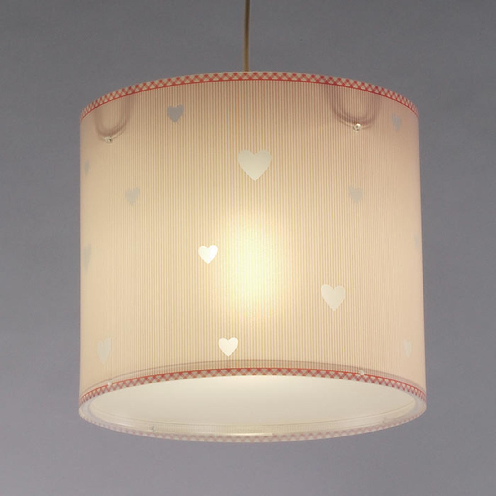 Różowa dziecięca lampa wisząca Sweet dreams