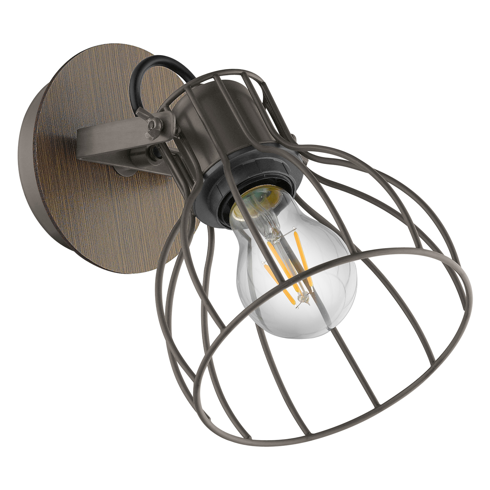 Applique Sambatello con paralume gabbia, 1 luce