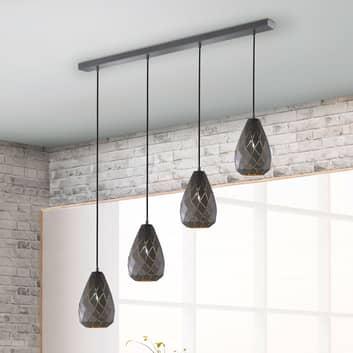 Lámpara colgante Onyx en diseño romboidal bicolor