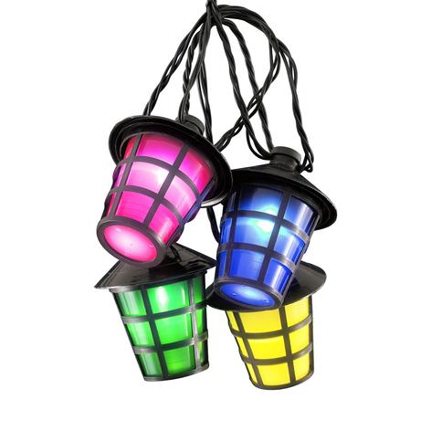 Utendørs lyslenke Lykt, 20 LED-lykter flerfarget