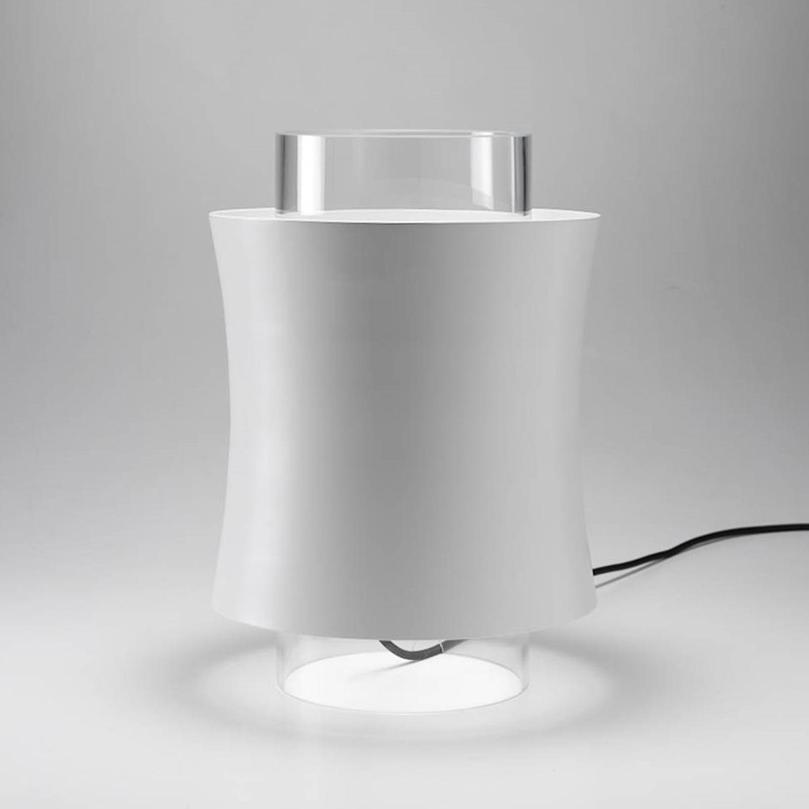 Prandina Fez T1 lampe à poser blanche mate