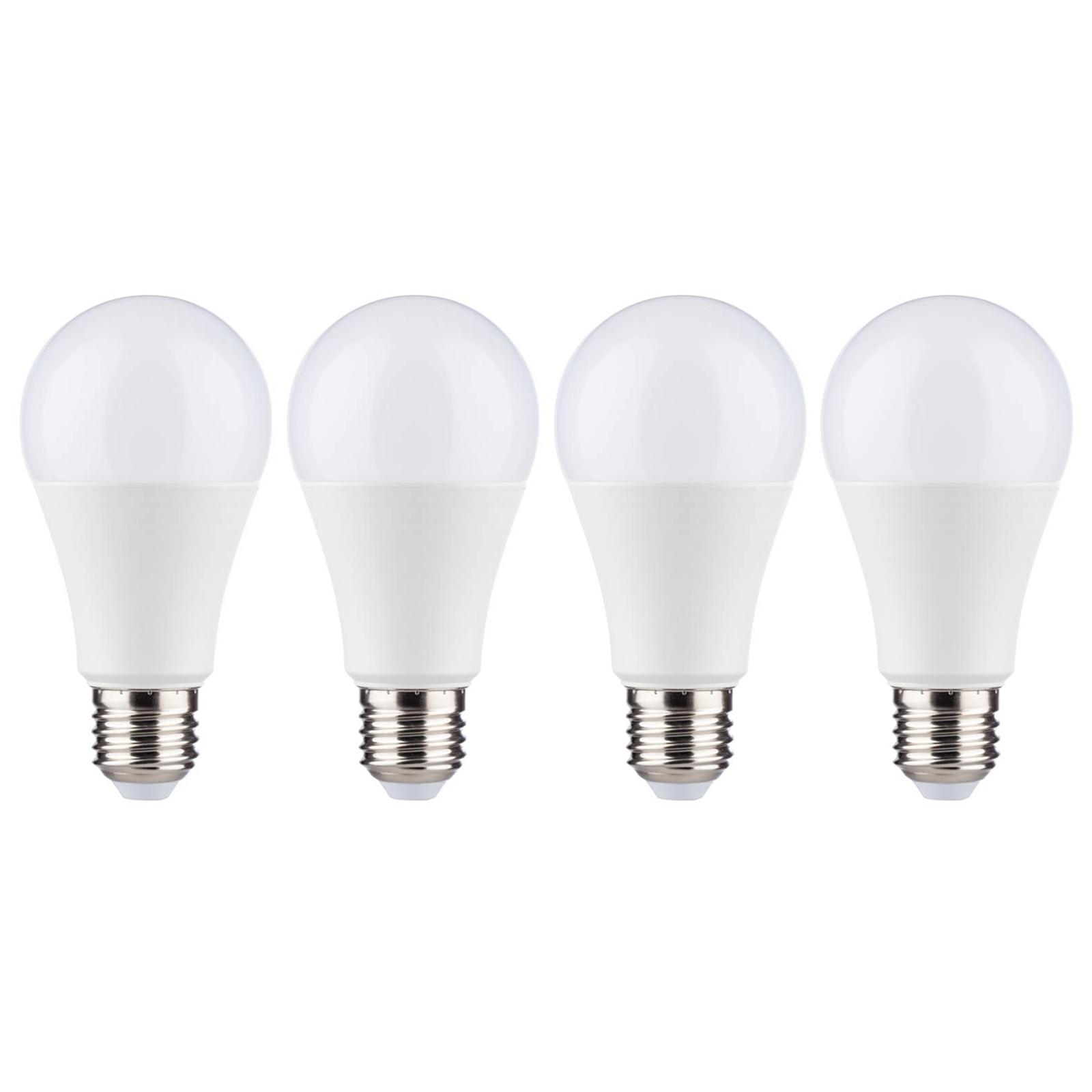 LED-Lampe E27 12W 2.700K opal im 4er-Pack