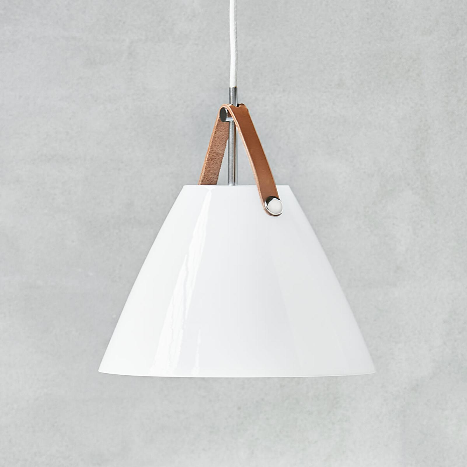 Szklana lampa wisząca LED Strap 27z zawieszeniem