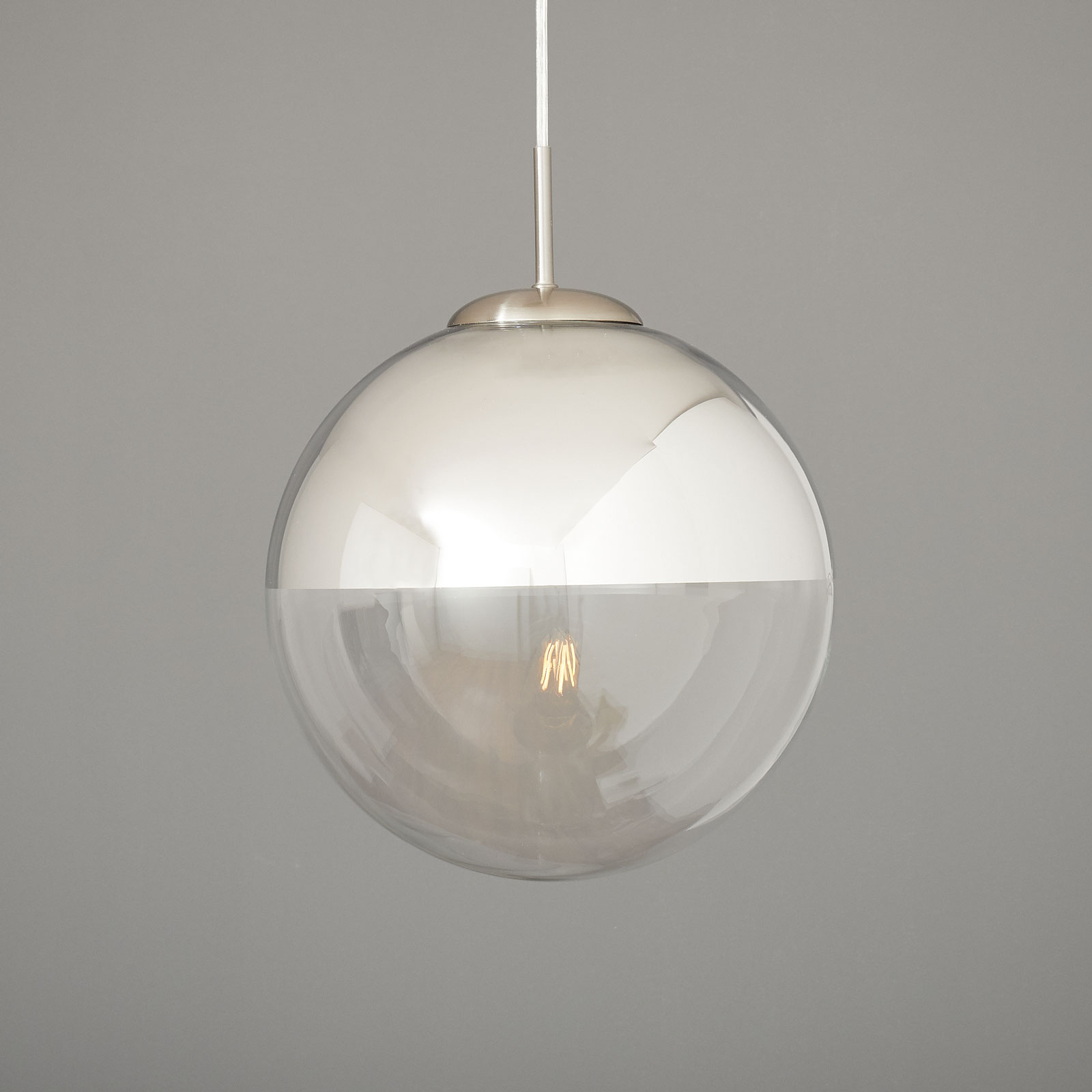 Riippuvalaisin Ravena lasikuulilla, 1-lamppuinen