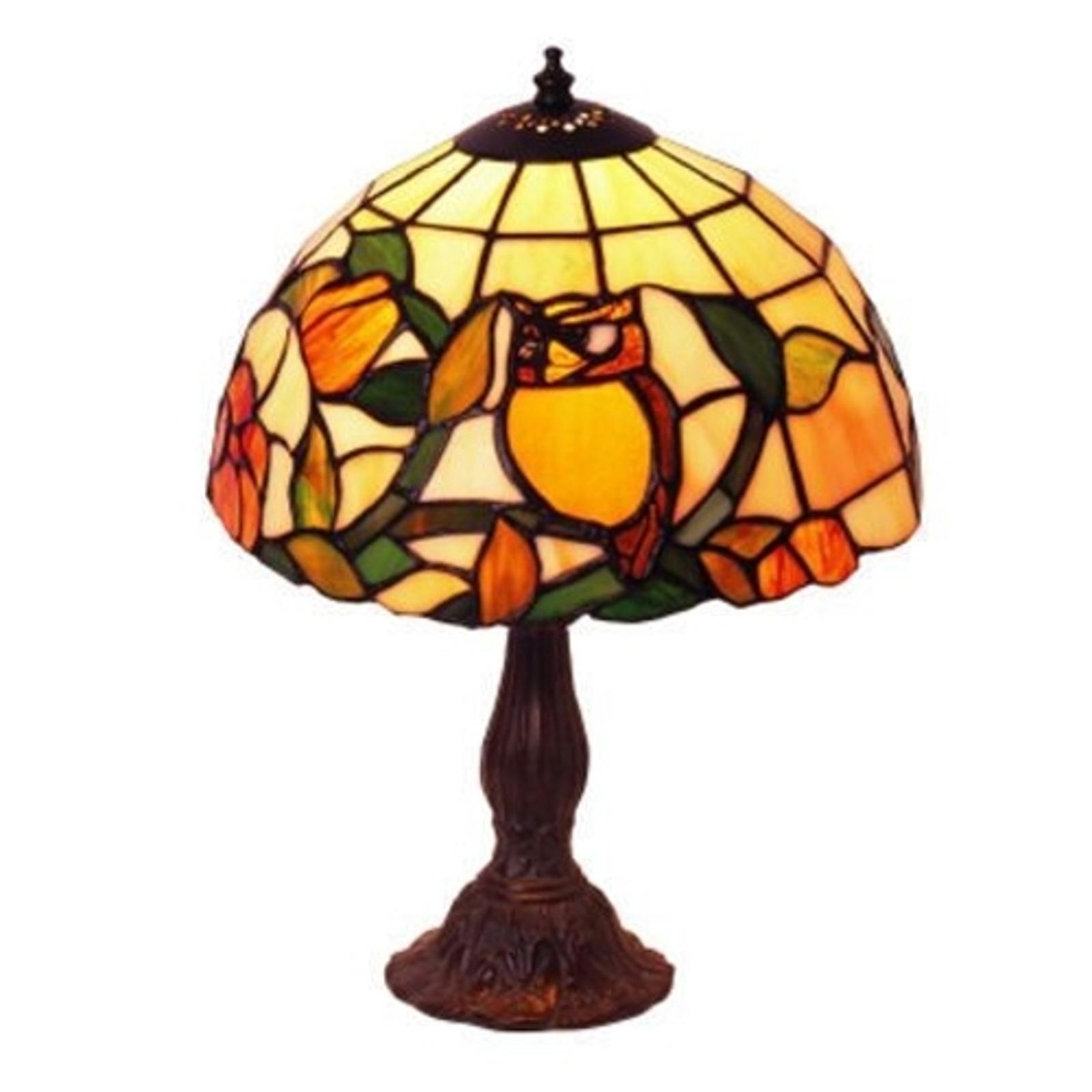 Tafellamp JULIANA met motief in Tiffany-stijl