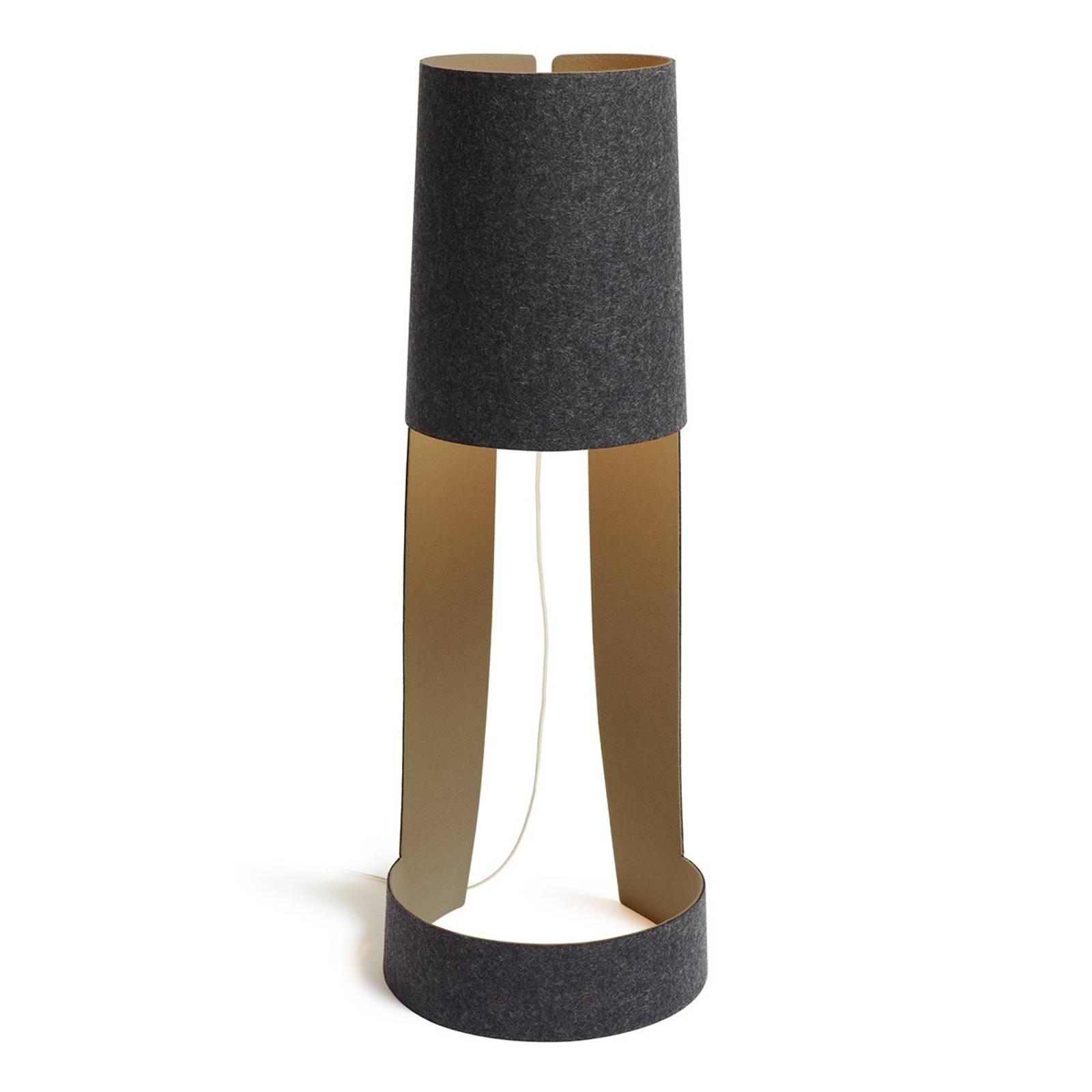 Kleine design vloerlamp Mia XL grafiet-steen