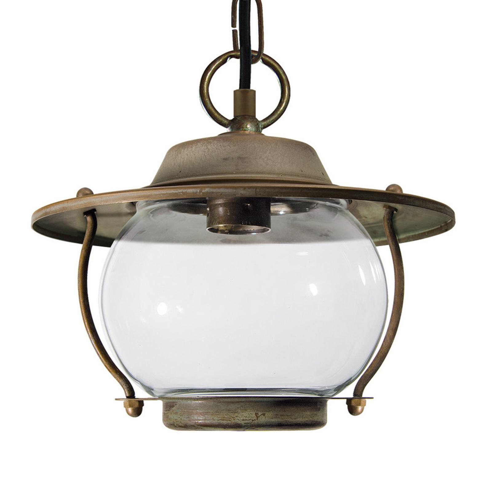 Zewnętrzna lampa wisząca ADESSORA z łańcuchem