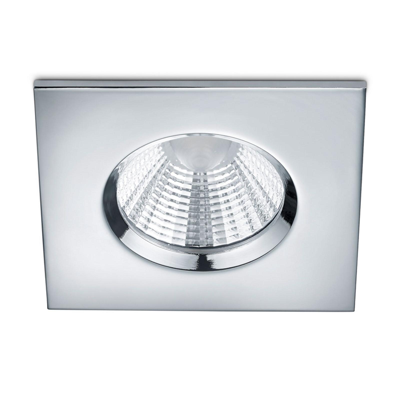 Vestavné LED bod.světlo Zagros IP65, chrom