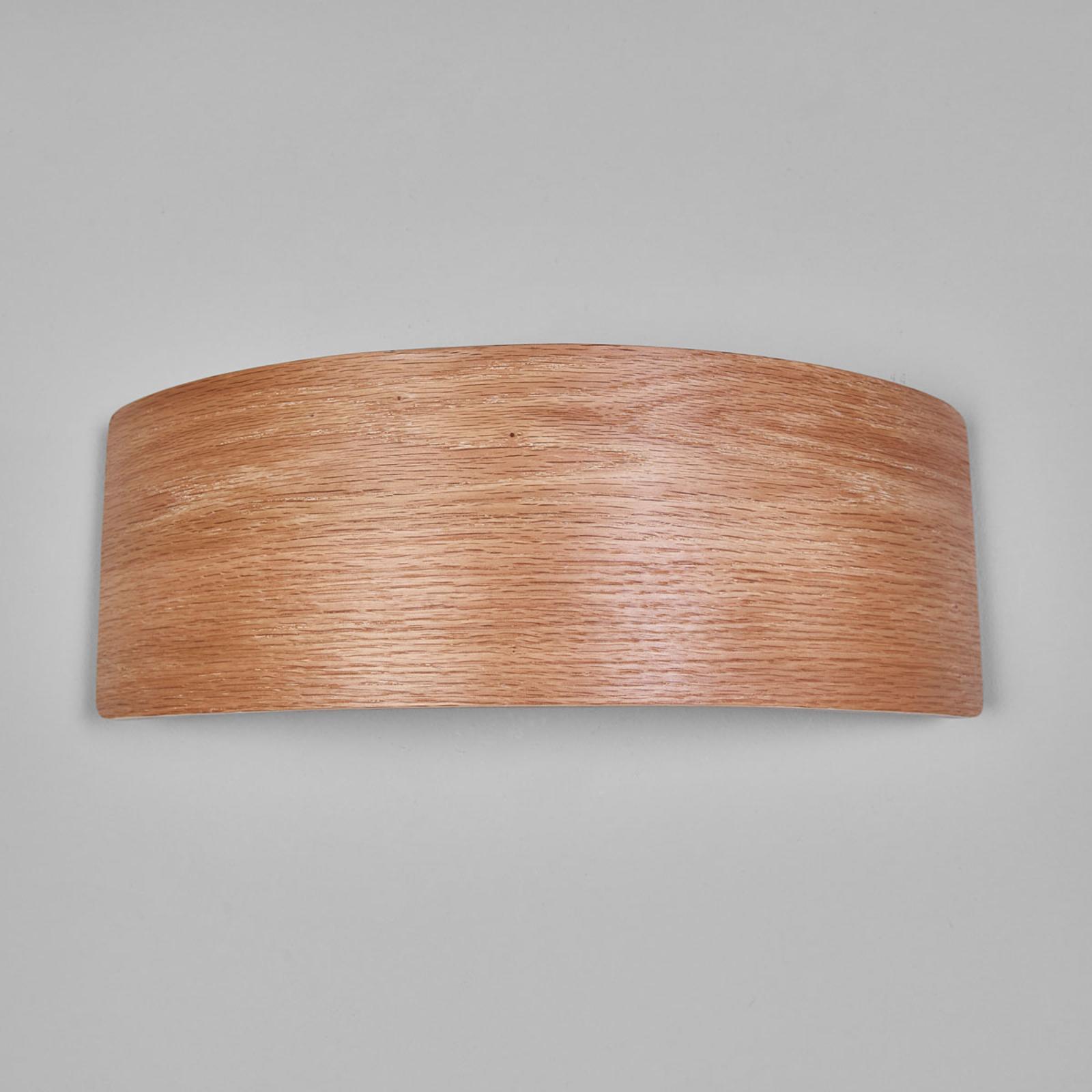 LED nástěnné světlo Rafailia 33 cm, dřevo