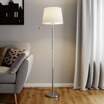 Benjiro - Stoffen vloerlamp met LED leeslamp