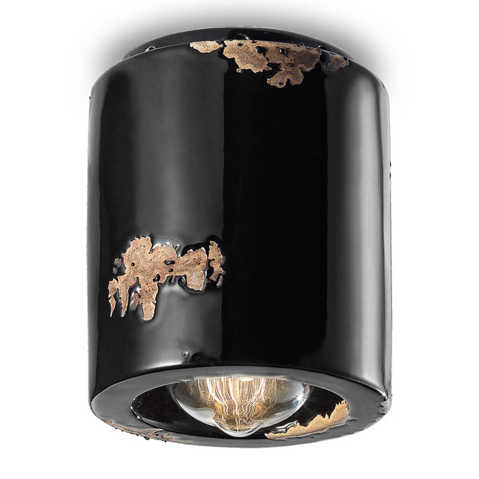 Lampa sufitowa C986 w stylu vintage, czarna