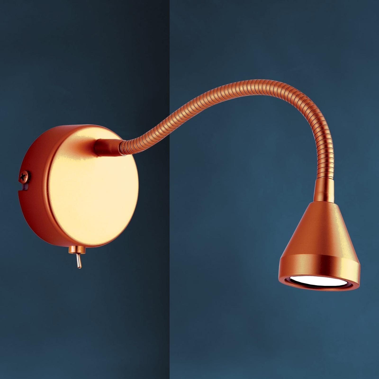 Flexibele LED-wandlamp MINI in antiek design