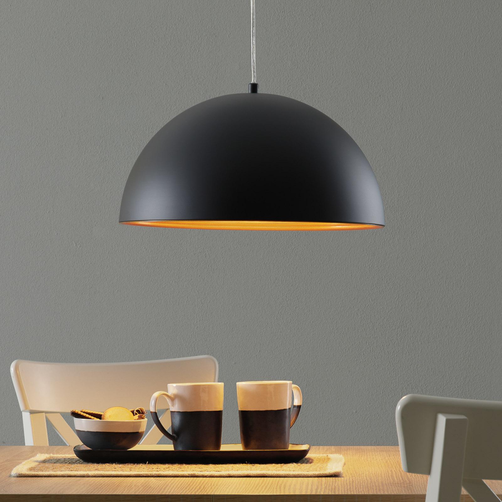 Lámpara colgante Dingle bicolor negro-dorado