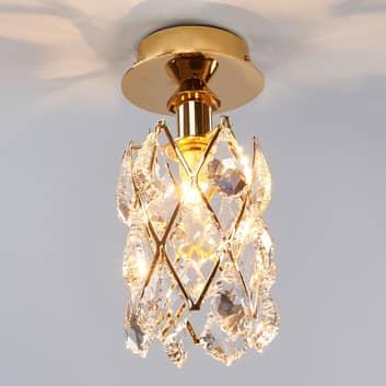 CHARLENE - pozłacana kryształowa lampa sufitowa