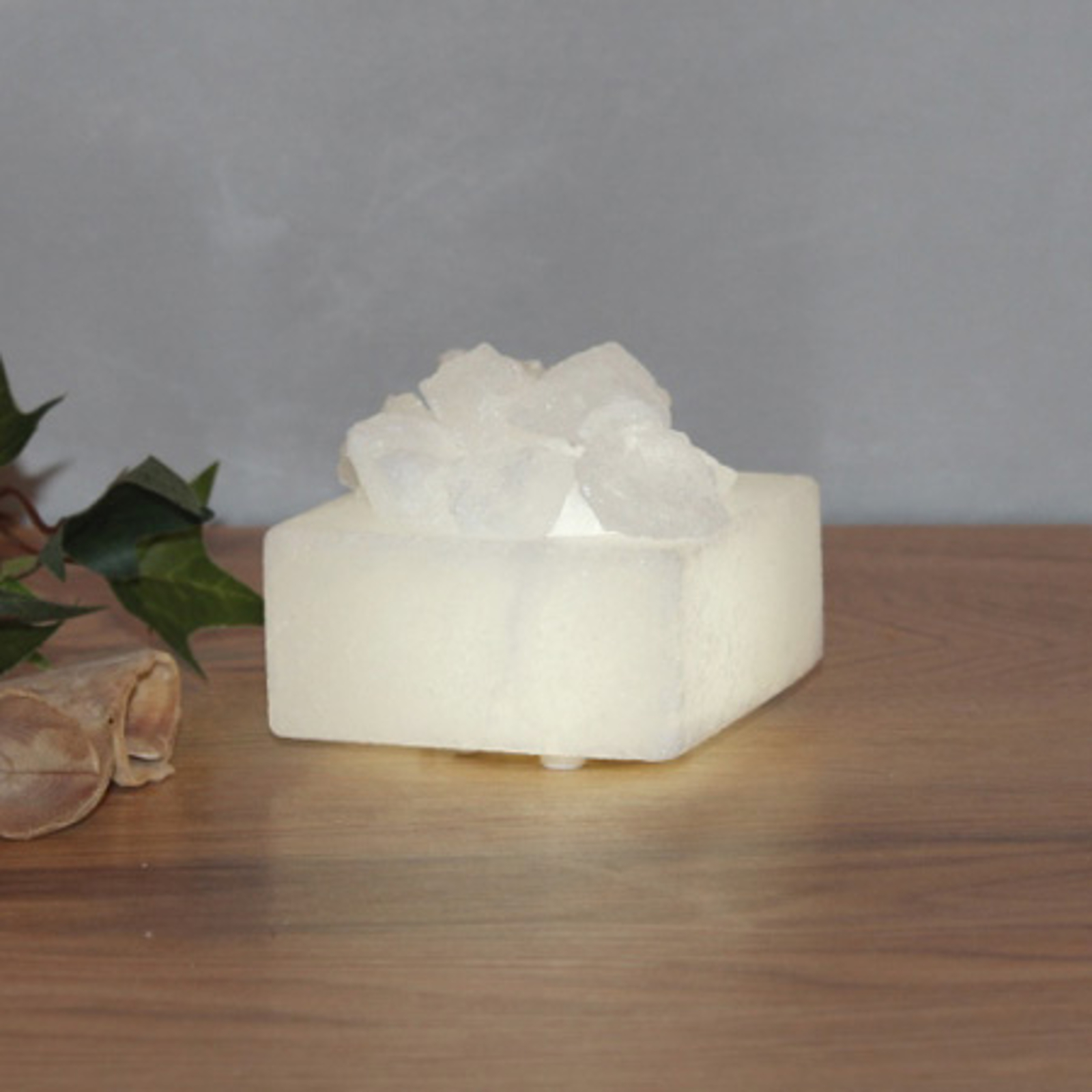 Lille LED-saltkrystalskål Petite