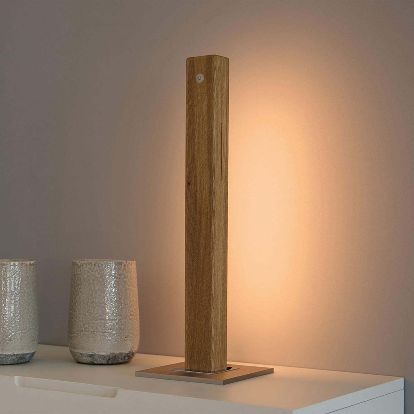 HerzBlut Leonora LED-bordlampe oljet eik