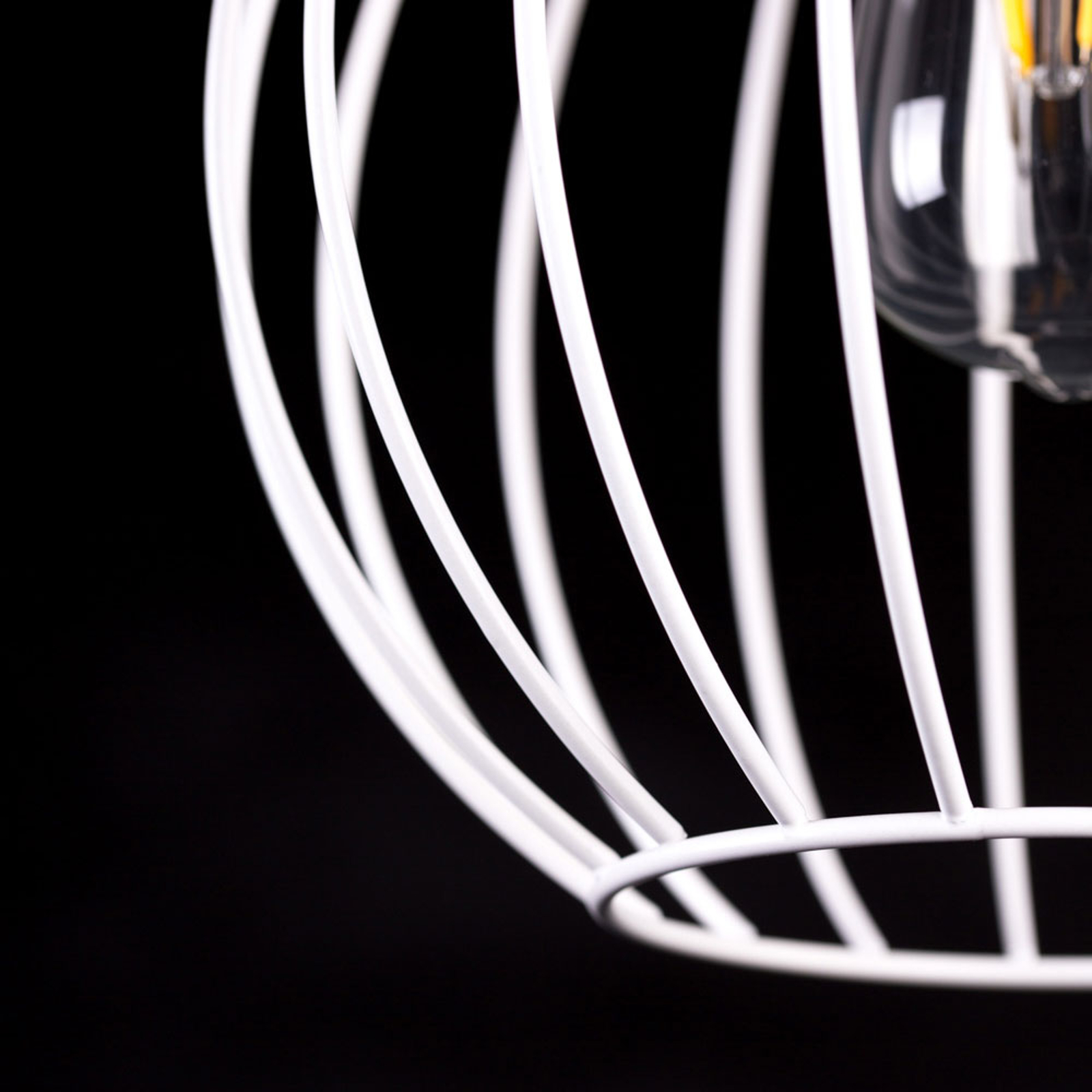 Lampa wisząca Barbado, 3-punktowa, biała