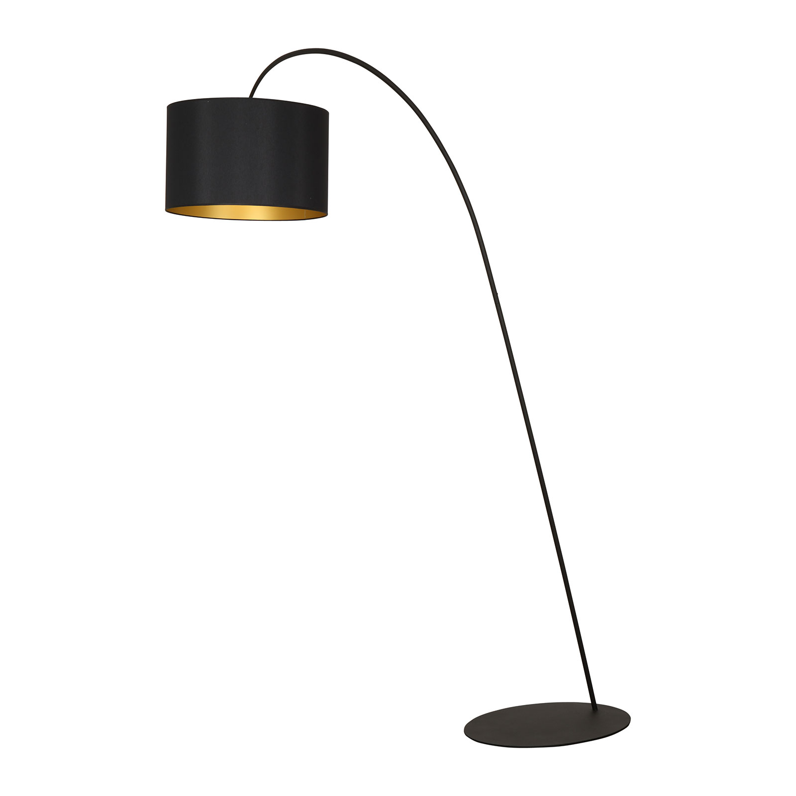 Båglampa Alice med skärm i svartguld