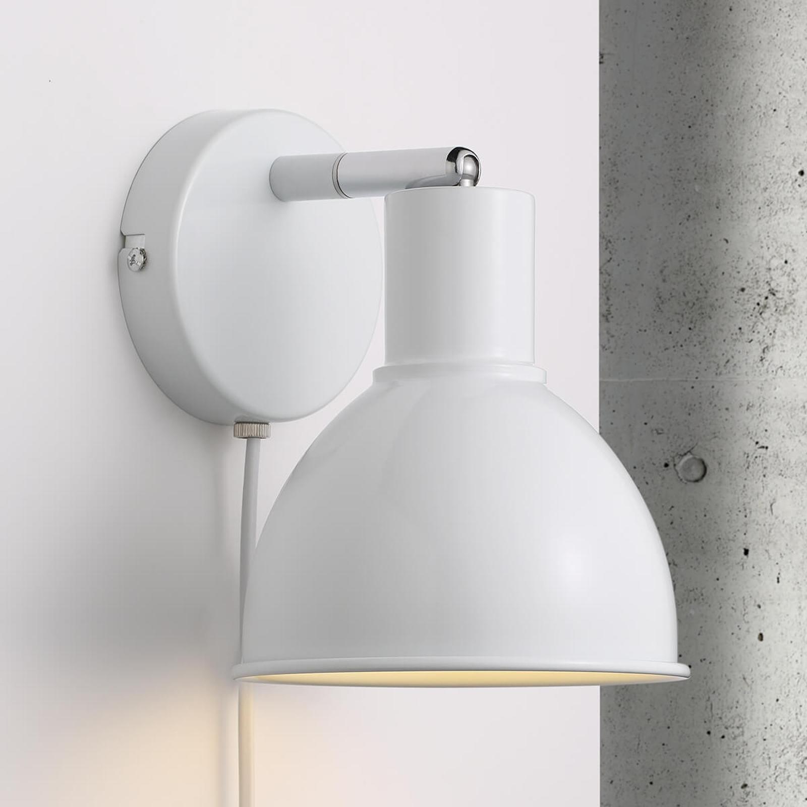 Atrakcyjna lampa ścienna Pop Wall, biała