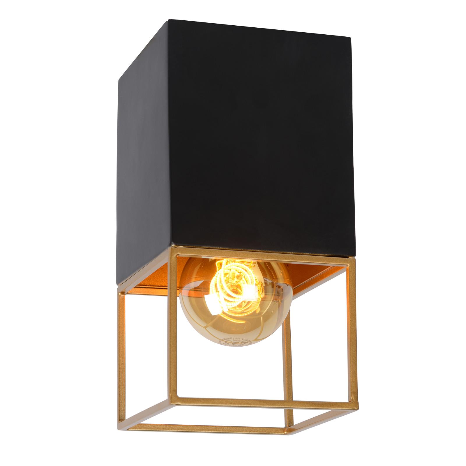 Lampa sufitowa Rixt czarna, kątowa, 1-punktowa