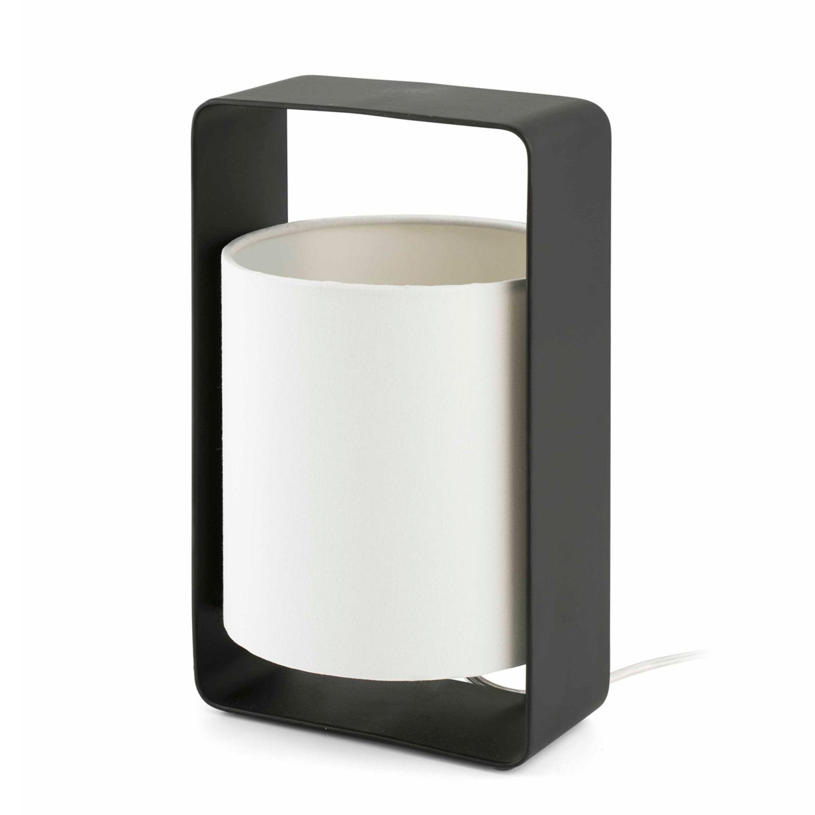 Tischleuchte Lula in Schwarz-Weiß, 27 cm