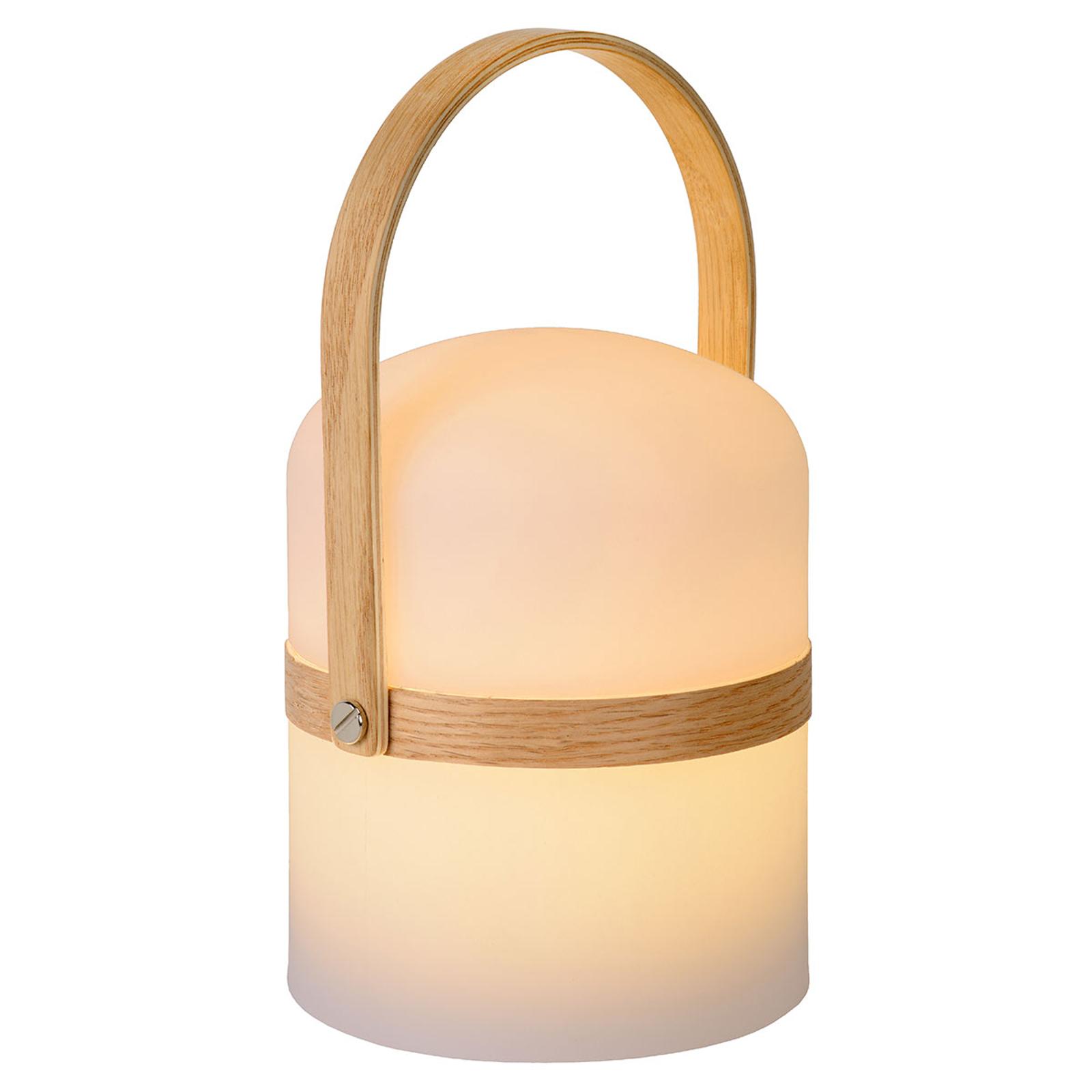 Draagbare LED tafellamp Joe voor binnen en buiten